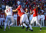 Alabama quarterback Tua Tagovailoa (13) throws a pass during the first half of an NCAA college football game against Mississippi State, Saturday, Nov. 10, 2018, in Tuscaloosa, Ala. (AP Photo/Butch Dill)