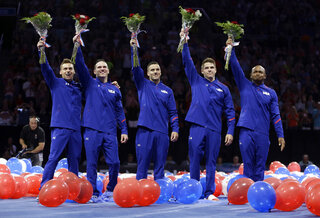 Sam Mikulak, Jake Dalton, Chris Brooks, Alex Naddour, John Orozco
