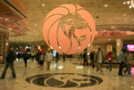 "** HOLD FOR STORY ** FILE ** The MGM logo is seen at the main entrance of MGM Grand hotel-casino in Las Vegas in this Feb. 22, 2006 file photo. The operator of the Mandalay Bay casino-resort from which a gunman carried out the largest mass shooting in U.S. history has filed federal lawsuits against hundreds of victims.  MGM Resorts International argues in lawsuits filed Friday, July 13, 2018 in Nevada and California that it is has ""no liability of any kind"" to the defendants under a federal law enacted in the wake of 9/11 terrorist attacks.  (AP Photo/Jae C. Hong, file)"