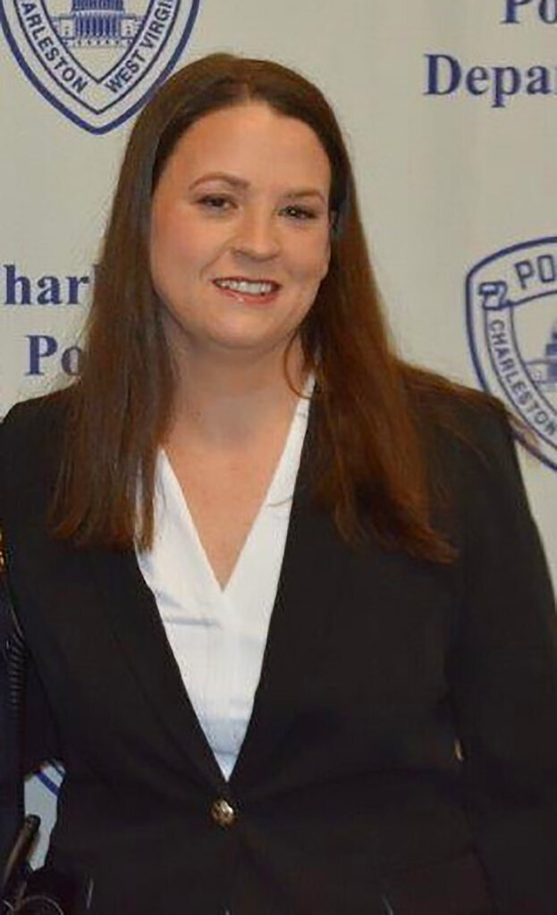 This undated photo provided by the City of Charleston, W.Va., shows police Officer Cassie Johnson. Johnson died Thursday, Dec. 3, 2020, two days after being shot by a suspect in Charleston. Johnson, 28, joined the city as a humane officer in October 2017 and was sworn in as a patrol officer in January 2019. (Courtesy of City of Charleston, W.Va. via AP)