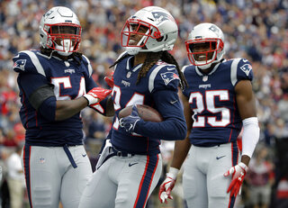 Stephon Gilmore, Dont'a Hightower, Eric Rowe