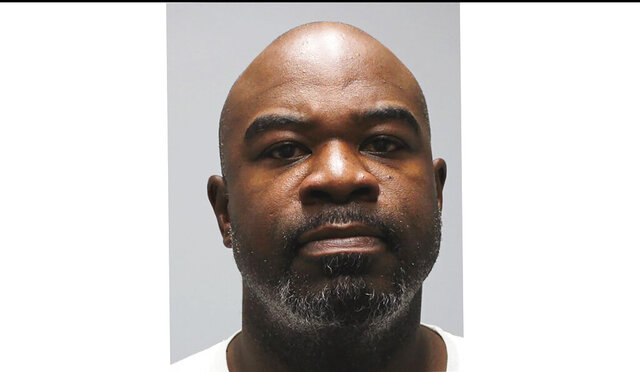 This booking photo provided by the Cleveland, Tenn. Police Department shows Albert Haynesworth. Former Tennessee Titans All-Pro defensive lineman Albert Haynesworth was arrested Monday, Sept. 28, 2020, by Cleveland, Tenn. police after he was accused of threatening and yelling at his ex-girlfriend and her new boyfriend. (Cleveland Police Department via AP)