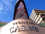 This March 9, 2016, photo shows the exterior of the Tropicana Casino and Resort in Atlantic City, N.J. On Monday April 16, 2018, Carl Icahn sold the real estate assets of Tropicana Entertainment to Gaming and Leisure Properties, and its casino operations to Eldorado Resorts in a $1.85 billion deal. Tropicana's casino in Aruba is not part of the deal. (AP Photo/Wayne Parry)