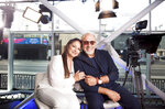 In this July 9, 2018 photo, Gloria and Emilio Estefan pose for a portrait at BiteSize Studio in Los Angeles to promote their touring musical