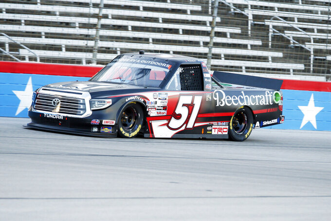Kyle Busch wins NASCAR trucks race after earlier Xfinity DQ