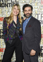 Actor Oscar Isaac and wife, Elvira Lind, attend the world premiere of