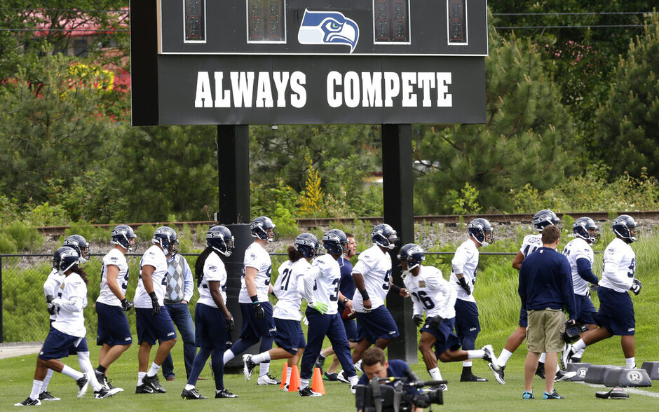 Seahawks Rookie Camp Football