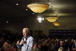 Democratic presidential candidate former Vice President Joe Biden speaks during a campaign event Monday, Jan. 27, 2020, in Marion, Iowa. (AP Photo/Marcio Jose Sanchez)