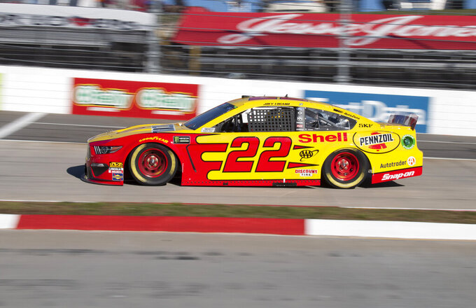 Logano leads pack of Fords to front at Martinsville Speedway