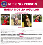 This image released by the FBI shows a missing person poster for Hania Aguilar. Aguilar was kidnapped Nov. 5, 2018, from a Robeson County, N.C., mobile home park after going outside to start a relative's SUV before school. (FBI via AP)