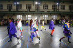 Models wear creations as part of the Issey Miyake ready to wear Fall-Winter 2019-2020 collection, that was presented in Paris, Friday, March 1, 2019. (AP Photo/Michel Euler)