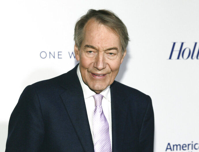 "FILE - In this April 13, 2017 file photo, Charlie Rose attends The Hollywood Reporter's 35 Most Powerful People in Media party in New York. The former chief makeup artist at Rose's interview show is suing him and saying the disgraced television journalist ran a ""toxic work environment"" for women. Gina Riggi said she worked for 22 years for Rose and Bloomberg, the company where his Manhattan studio was located. Rose was fired in 2017 by PBS and CBS News for sexual misconduct. His attorney didn't immediately return messages seeking comment Friday, Sept. 20, 2019.  (Photo by Andy Kropa/Invision/AP, File)"