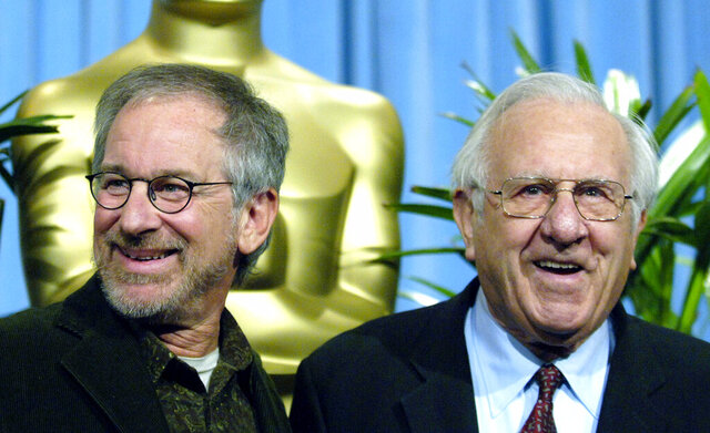 FILE - Steven Spielberg, nominated for best director for his work on