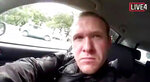 This frame from video that was livestreamed Friday, March 15, 2019, shows a gunman, who used the name Brenton Tarrant on social media, in a car before the mosque shootings in Christchurch, New Zealand. (Shooter's Video via AP)