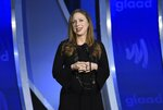 """FILE - In this Saturday, May 4, 2019, file photo, Chelsea Clinton speaks at the 30th annual GLAAD Media Awards at the New York Hilton Midtown. On Friday, May 28, 2021, The Associated Press reported on stories circulating online incorrectly asserting Clinton tweeted about Microsoft co-founder Bill Gates, asking, """"What kind of man pursues a physical relationship with an underling and has relations with her in their office?"""" (Photo by Evan Agostini/Invision/AP, File)"""