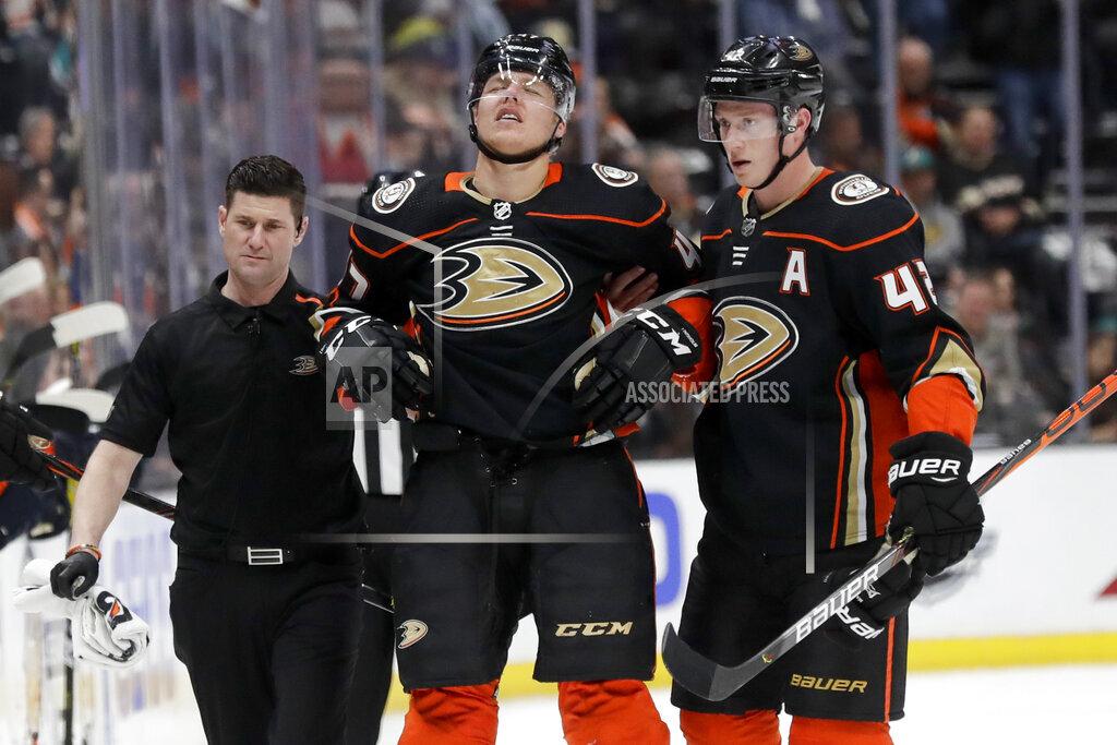 Oilers Ducks Hockey