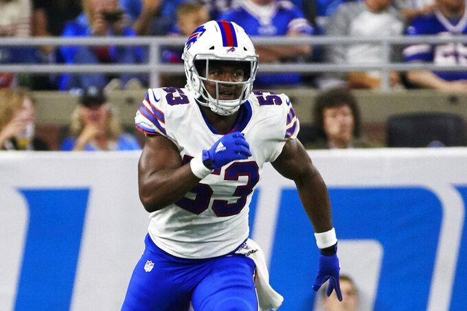 NFL suspends Bills' Tyrel Dodson 6 games for domestic abuse