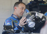 Kevin Harvick prepares to practice for a NASCAR Cup Series auto race on Saturday, Nov. 16, 2019, at Homestead-Miami Speedway in Homestead, Fla. Harvick is one of four drivers racing for the championship. (AP Photo/Terry Renna)