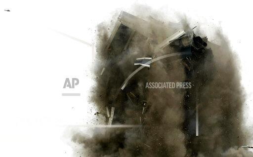 APTOPIX Steelmaker's Headquarters Implosion