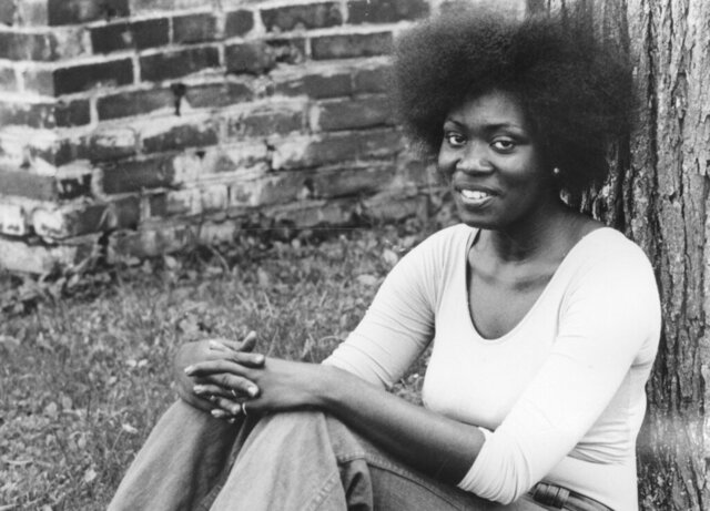 Margaret Holloway is seen in this 1974 photo provided by Bennington College in Bennington, VT. Holloway, a woman who became famous for her gritty and colorful performances of Shakespeare on the streets of New Haven, Conn, died of the coronavirus in May 2020. (Bennington College via AP)
