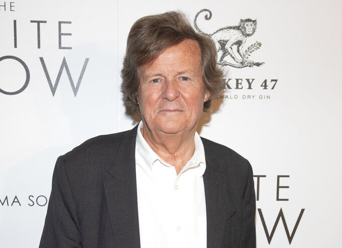 """FILE -David Hare attends a special screening of """"The White Crow"""" in New York on April 22, 2019. Hare, creator of the upcoming PBS political drama """"Road Kill,"""" has written a monologue for the stage about his COVID-19 illness. (Photo by Andy Kropa/Invision/AP, File)"""