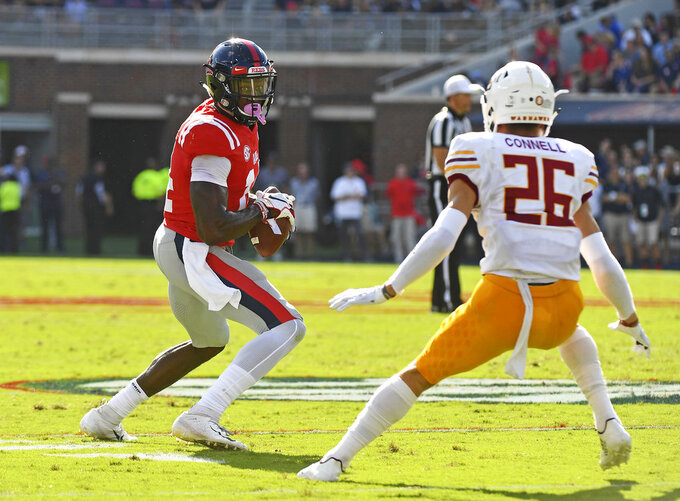 Ole Miss WR Metcalf out for season with neck injury