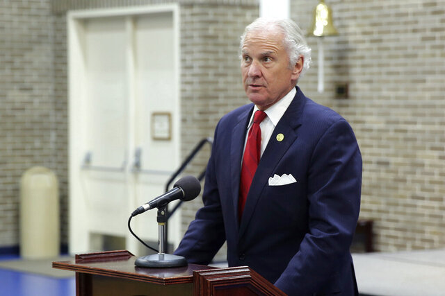"""FILE - In this Wednesday, Dec. 2, 2020 file photo, Gov. Henry McMaster gives a news conference in Columbia, S.C. McMaster, 73, has tested positive for the coronavirus and is slated to receive outpatient antibody treatment for """"mild symptoms."""