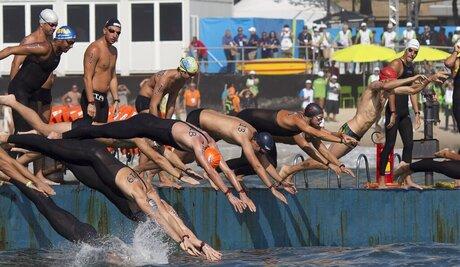 Brazil OLY Marathon Swimming
