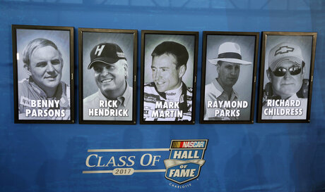 Benny Parsons, Rick Hendrick, Mark Martin, Raymond Parks, Richard Childress