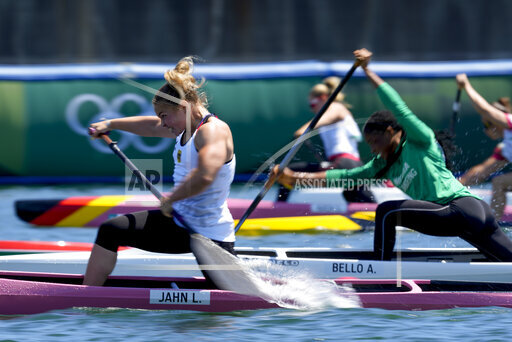 APTOPIX Tokyo Olympics Canoe Sprint