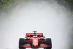Ferrari driver Sebastian Vettel of Germany steers his car during the second practice session for the Hungarian Formula One Grand Prix at the Hungaroring racetrack in Mogyorod, Hungary, Friday, July 17, 2020. The Hungarian F1 Grand Prix will be held on Sunday. (Joe Klamar/Pool via AP)