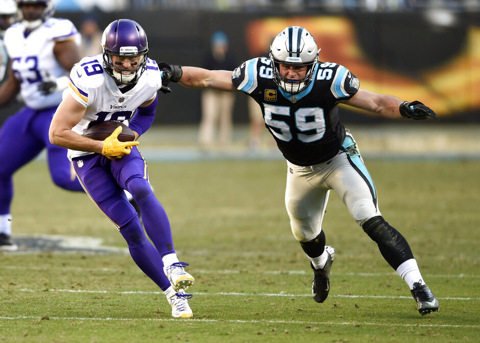 Luke Kuechly, Adam Thielen