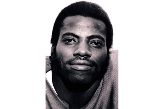 FILE - This is an undated file photo showing former football player Fred Dean. Dean, the fearsome pass rusher who was a key part of the launch of the San Francisco 49ers' dynasty, has died. He was 68. His death on Wednesday night, Oct. 14, 2020, was confirmed Thursday by the Pro Football Hall of Fame in Canton, Ohio.(AP Photo,File)