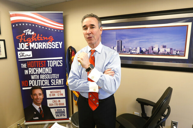 In this Thursday, March 5, 2020 photo, Virginia State Sen. Joe Morrissey, D-Richmond, speaks during an interview in his office at the Capitol in Richmond, Va. The former prosecutor-turned-defense attorney, who calls himself
