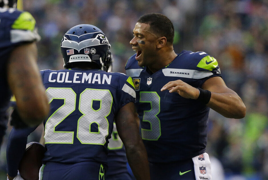 Justin Coleman, Russell Wilson