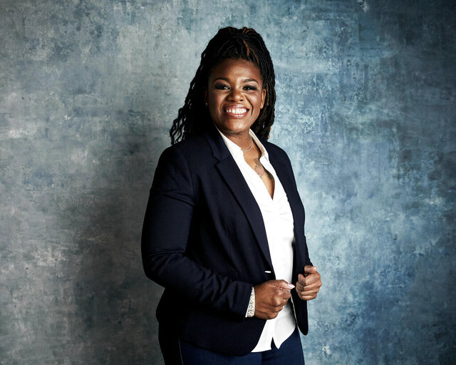 FILE - In this Jan. 27, 2019, file photo Cori Bush poses for a portrait to promote the film