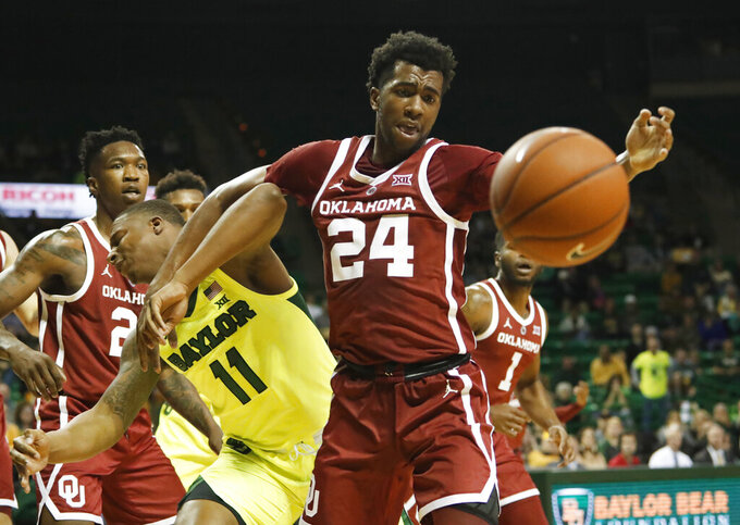 Bandoo leads Baylor past Oklahoma to end two-game skid