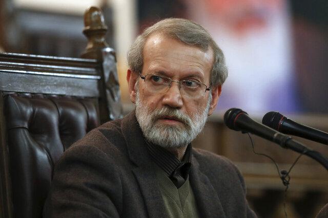 FILE - In this Dec. 1, 2019 file photo, Parliament Speaker Ali Larijani gives a press conference in Tehran, Iran. Iran's parliament said Thursday, April 2, 2020 that speaker Ali Larijani has tested positive for the new coronavirus and is in quarantine. (AP Photo/Vahid Salemi, File)