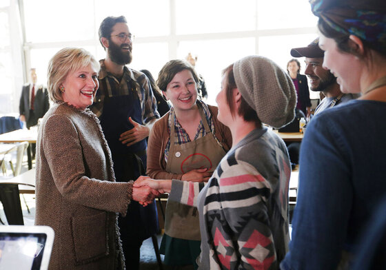 Hillary Clinton, Whitney Gomez, Michael Harrell, Sarah O'Brien