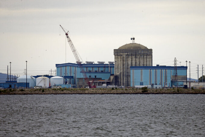 FILE - This Sept. 21, 2016 file photo shows Unit one of the V.C. Summer Nuclear Station near Jenkinsville, S.C.  Federal authorities say a fourth executive has been charged for his role in a failed multibillion-dollar project to build two nuclear reactors at the V.C. Summer site in South Carolina. Former Westinghouse executive Jeffrey A. Benjamin faces multiple felony counts of fraud, according to an indictment filed Wednesday, Aug. 18, 2021. (AP Photo/Chuck Burton, File)