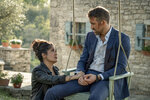 """This image released by Lionsgate shows Salma Hayek, left, and Ryan Reynolds in a scene from """"The Hitman's Wife's Bodyguard."""" (David Appleby/Lionsgate via AP)"""