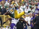 Minnesota Vikings' Trae Waynes breaks up a pass intended for Green Bay Packers' Marquez Valdes-Scantling during the second half of an NFL football game Sunday, Sept. 15, 2019, in Green Bay, Wis. (AP Photo/Morry Gash)