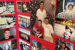 This July 15, 2021 image shows one of the memorial photo boards dedicated to Elias Otero in his family's home in Albuquerque, New Mexico. Otero, 24, is among the people killed in the city so far this year. Albuquerque is on track to smash its homicide record of 80 that was set in 2019. Homicide rates in many American cities have continued to rise although not as precipitously as the double-digit jumps seen in 2020 and still below the violence of the mid-90s. (AP Photo/Susan Montoya Bryan)