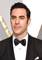 FILE - This Feb. 28, 2016 file photo shows Sacha Baron Cohen at the Oscars in Los Angeles. Cohen stars in the new Showtime series