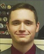 In this photo provided by the Independence Police Department shows Police Officer Blaize Madrid-Evans.  Authorities say Madrid-Evans who was still in training after graduating from the police academy in July has died after being shot by a wanted man who opened fire on officers and was also killed. The Independence, Mo., Police Department announced late Wednesday, Sept. 15, 2021,  that  Blaize Madrid-Evans died following the Wednesday morning shooting. (AP Photo/Independence Police Dept.).