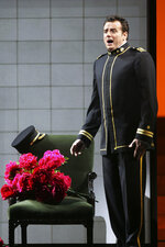 FILE - In this Sept. 22, 2006, file photo, Marcello Giordani performs as Lt. B. F. Pinkerton in the final dress rehearsal of Giacomo Puccini's