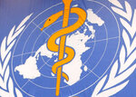 "FILE - In this file photo dated Monday, May 17, 2004, The World Health Organisation, WHO, logo seen at the United Nations in Geneva, Switzerland.  The World Health Organization's European director  Dr. Hans Kluge on Thursday Sept. 17, 2020, has warned countries against reducing the quarantine period for people potentially exposed to the coronavirus and acknowledged that COVID-19 ""fatigue"" is setting in. (Laurent Gillieron/Keystone FILE via AP)"