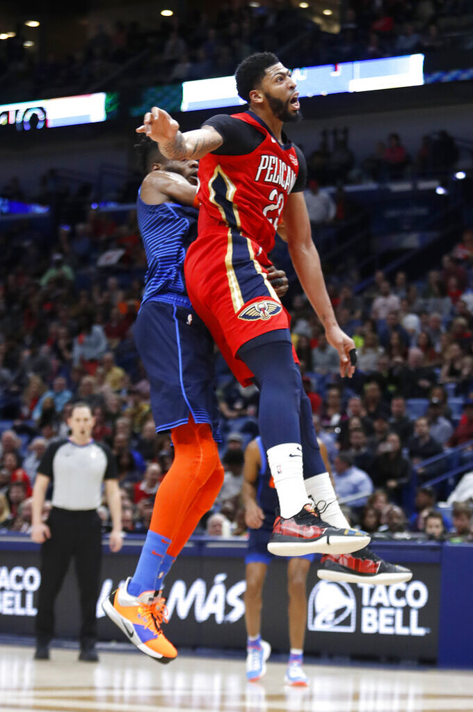 Oklahoma City Thunder at New Orleans Pelicans 2/14/2019