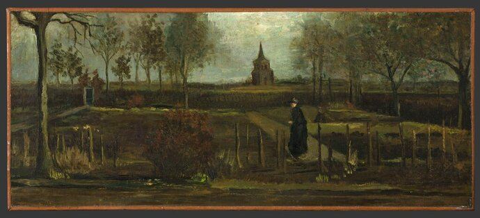 This image released by the Gronninger Museum on Monday March 30, 2020, shows Dutch master Vincent van Gogh's painting titled