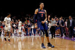 Liberty guard Caleb Homesley celebrates after scoring against Mississippi State during the second half of a first-round game in the NCAA men's college basketball tournament Friday, March 22, 2019, in San Jose, Calif. (AP Photo/Jeff Chiu)